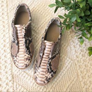 {Free People} M4D3 Snakeskin Platform Sneakers